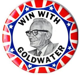 4092 Large 1964 Barry Goldwater IN YOUR HEART Classic Campaign Button