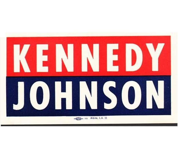 Window sticker for kennedy johnson