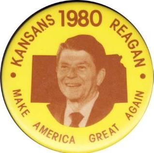 ronald reagan political campaign buttons for 1980 campaign for