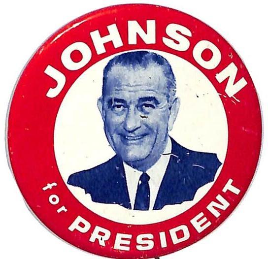 1964 Lyndon Johnson 4 the USA Campaign Button