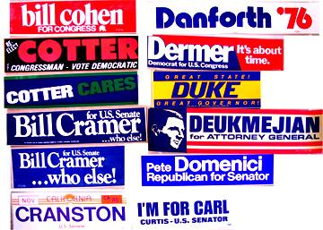 ALL BUMPER STICKERS $4 UNLESS NOTED BELOW