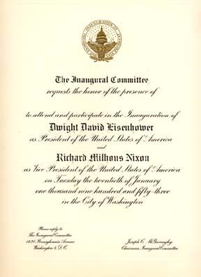 Presidential inaugural invitations and memorabilia for sale rare 1949 congressional inaugural invitation for president harry s truman and vice president alben barkley includes invitation and enclosure photos stopboris Choice Image