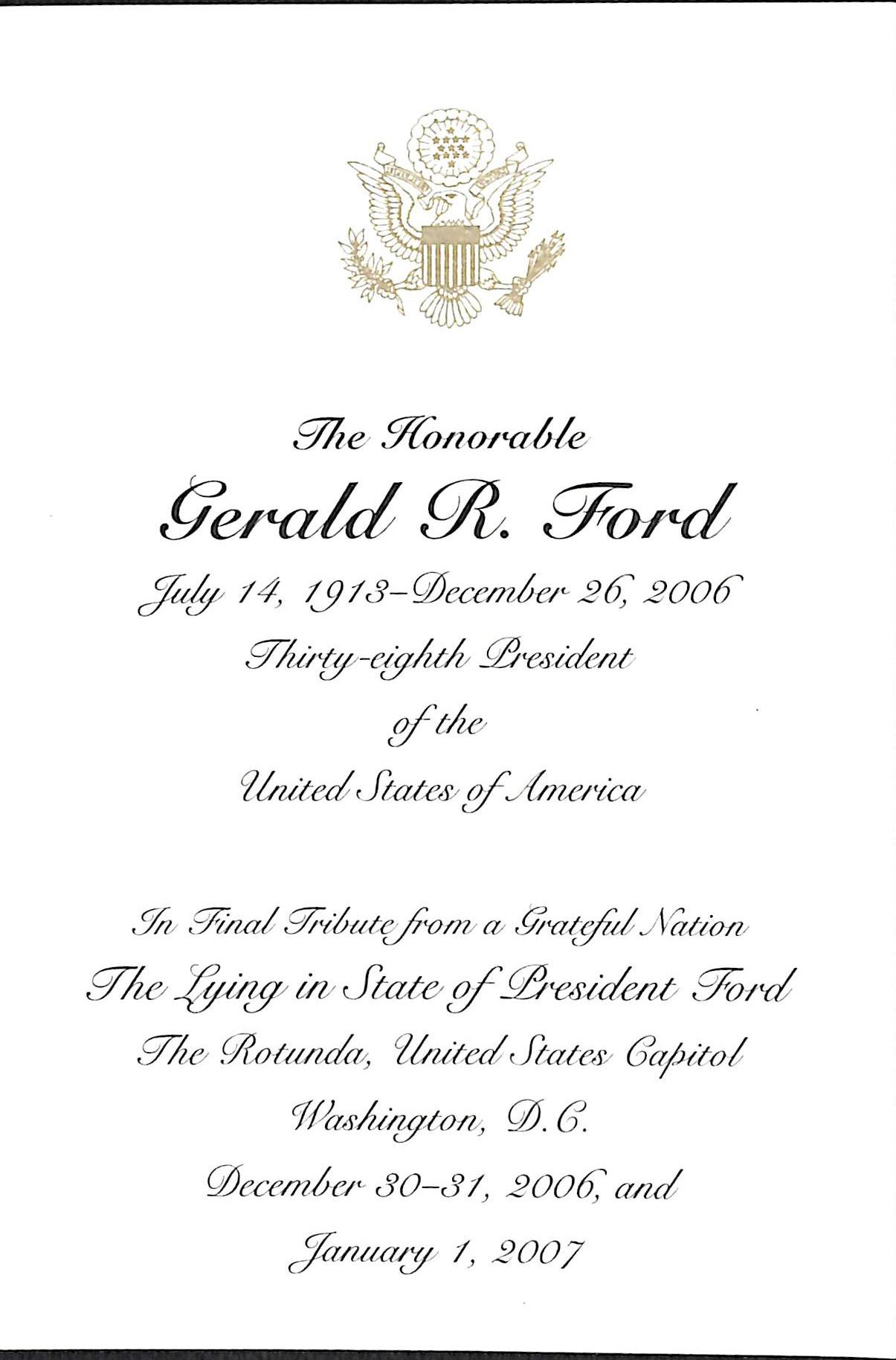 Presidential Funeral Memorabilia