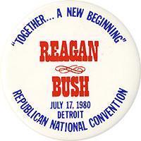 SCARCE  MICHIGAN/'S THIRD FOR REAGAN   1980  CAMPAIGN PIN
