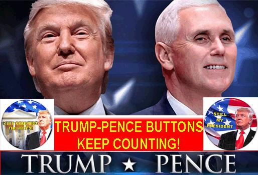 Click Here for Donald Trump - Pence 2020 Campaign Buttons
